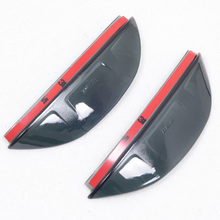 For Ford Focus MK3 2012 2013 ABS Plastic Side Door Mirrors Rearview Sun Rain Guard Shield Deflector Decoration Cover Trims 2pcs(China)