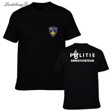 Netherlands Politie Police Special Swat Unit Force Mens T Shirts Novelty Cotton short Sleeve T Shirt Tops Tees Friend Gift(China)