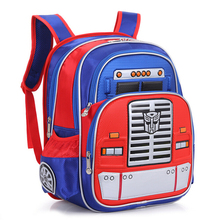 Transformers Children's Backpack Boys Animation Cartoon Autobots School Bags For Boys Girls Primary Students Backpacks