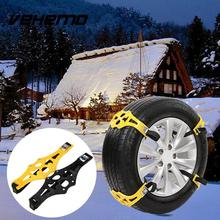 Black TPU Car Snow Chains Adjustable Anti-skid Chains Double Buckles Car Tire Wheel Chain for Snow Climbing Mud Ground Outdoor(China)