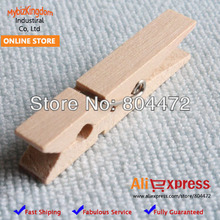 100 units 48 mm Craft Natural Wood Spring Clip/wooden Peg for Baby Shower Wedding Event Party Supplies | Gift Package