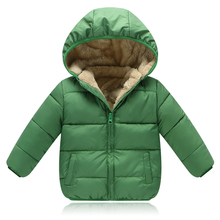 BibiCola Children Outerwear Coat Winter Baby Boys Girls Jackets Coat Infant Warm Baby parkas Thick Kids Hooded Clothes(China)