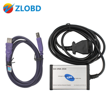 DHL Free DA-VINA 2534 SAE J2534 Pass-Thru Interface CAN/OBD2 Diagnostic tool DA-VINA 2534 for Land Rover for Ford for Jaguar