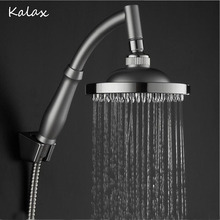 1 Pc 4 Inch 6 Inch 8 Inch ABS Fixed Rotatable Type Rainfall Shower Heads Bathroom Bath Fixture Faucet Accessory(China)