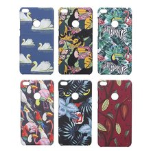 Meachy Cute Colorful Animals Flamingo Phone Case For Huawei Honor 8 5.2 inch Hard Plastic flower For Honor 8 Lite Case Cover E66