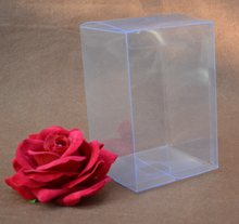 Qin.01.12/6*6*16cm, pp plastic box , small pvc boxes , clear pvc boxes wedding favors gift