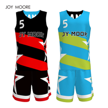 adult Men Reversible Basketball Jersey Sets Uniforms kits Sports clothes sleeveless basketball jerseys suits Customized(China)