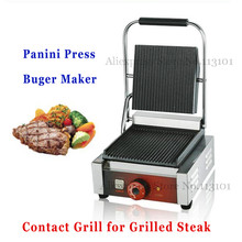 Electric Grill Griddle, Sandwich Panini Press Grill Sandwich Maker Commercial Teppanyaki Barbecue Griddler