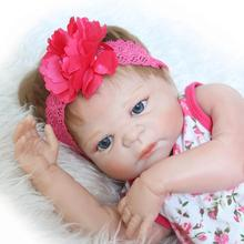 57cm New Real Solid Silicone Reborn Baby Doll For Adoption Realistic Alive Toddler Jointed Bodies Brinquedos Girl Doll Reborn(China)