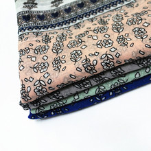 Hot sale floret tassels scarf Comfortable fashionable ladies bandana silk scarf Muslim headscarves Independent packing 10pcs/lot