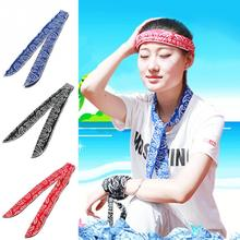 2017 Summer Non-toxic Neck Cooler Scarf Body Ice Cool Cooling Wrap Tie Headband