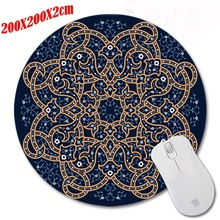 A Series of Twirl Blue Green Mouse Pad Durable Desktop Pad Mousepads Computer Animation Round Mouse Mat Round Mice Pad(China)