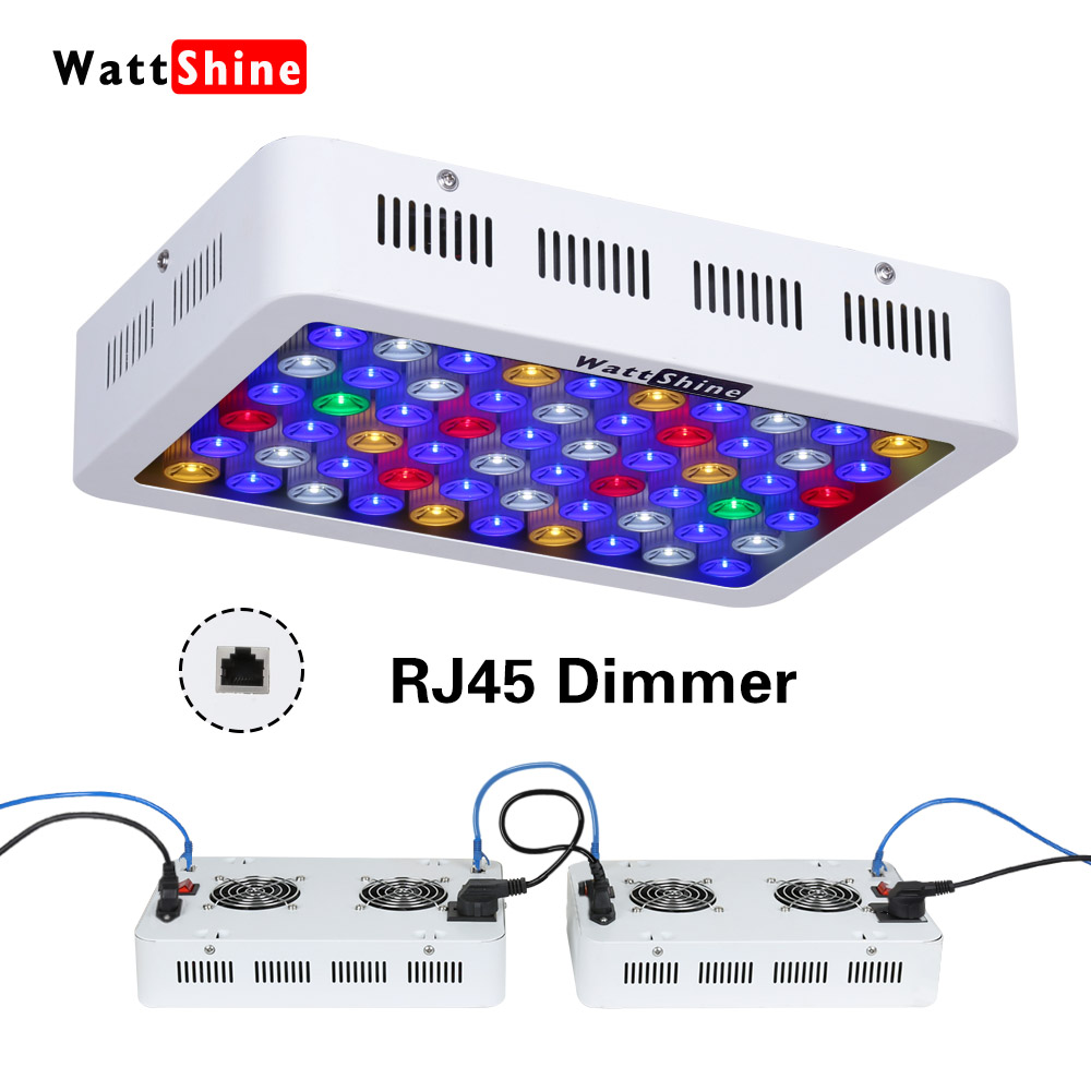 LED Aquarium Light 180W Series Dimmable Full Spectrum For Coral Reef Grow For Plants Fish Tank Aquarium Decorations Include