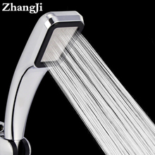 Hot Bathroom Handheld Shower Head 300 Hole Water Saving Square abs Rainfall Shower Head Water Saving High Pressure Set ZJ093(China)