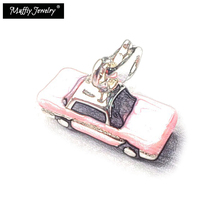 Pink Classic Car Charm,Thomas Style Muffiy Club Good Jewelry For Women,Ts Gift In 925 Sterling Silver Fit Bag Bracelet