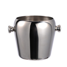 Stainless Steel Ice Bucket Ice Barrel Champagne Beer Whillers Whisky Wine Cooler Bar Containers 1L