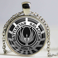 Steampunk US classical Drama Battlestar Galactica Pendant Necklace glass 1pcslot men handmade jewelry dr who chain necklace toy