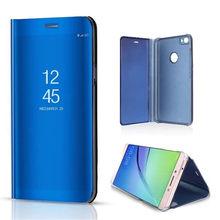 OCUBE Luxury Mirror Clear View Smart Flip Case Xiaomi Redmi Note 5 Pro PU Leather Cover Redmi Note 5A Prime Case Cover