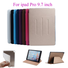 Flip Cases For Apple iPad Pro 9.7 inch Case Back Cover PU Leather Soft Silicon TPU Tablet Stand Card Slots Protect Shell housing(China)