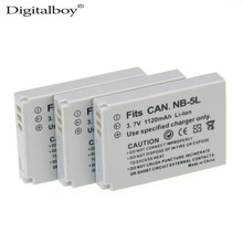 Digital Boy 3pcs NB-5L NB 5L NB5L Replacement Camera Battery Pack For Canon 900 Ti SD790 IS SD950 SD900 SD990 z1