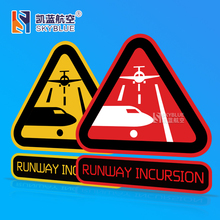 Runway Incurion Poster Sticker Water Proof for Car Motorcycle Luggage Bag for Airport Aviation Lover Pilot Flight Crew