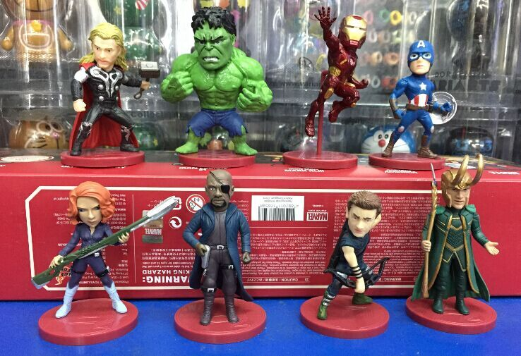 WCF Avengers 2 Age of Ultron PVC Figure Toys 8pcs/set Thor Hulk Iron Man Captain America Black Widow Hawkeye Loki HRFG378<br><br>Aliexpress