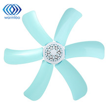 6 leaf blades Household 16cm Small Mini Electric Fan Ceiling Fans Energy Saving US Plug Blue 220V 7W