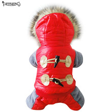 New Winter Warm Thick For Large Small Dog Pet Clothes Padded Hoodie Jumpsuit Pants Apparel Dog Pet Warm Winter Coat Jacket 4size