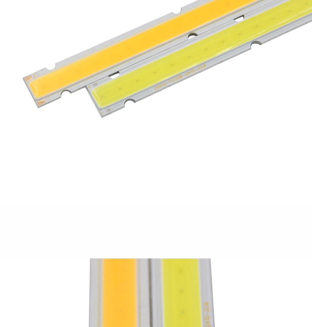 250x12mm 12v Cob Led Bulb Strip Lamp 10w Ultra Bright 1000lm 25cm How To Build Bar Light For Diy