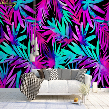 beibehang Custom photo wallpaper hand painted colored leaf plant Southeast Asian style restaurant theme hotel background murals