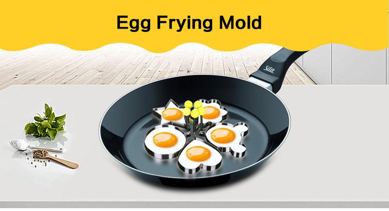 Stainless Steel Egg Molds (5 pcs set)