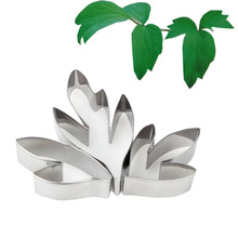 3pcs/set Metal Stainless Steel Tools Peony Flower Leaf Cutters Set Furniture Products Kitchen Cooking Equipment