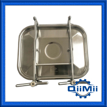 530x430mm Stainless steel rectangular side manway,square manhole cover