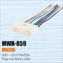 Car CD DVD Player Power Wire Cable Plug For Mazda 2001-2015 Plugs Into Factory Radio / DIN ISO Female