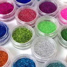24 Color Sequins Sand for Nail Glitter Powder Nailart Glitter for Nails Dust Powder Glitter Nail Tinsel ZJ1317(China)