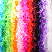 Multi-Color Fluffy Handcraft Ostrich Feather Plume Boas Scarf Clothes for Wedding Decoration Performance Dance Supplies P20