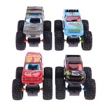 2pcs Alloy Inertial Climb Truck Cool Kids Boys Favorite Assembly Climb Car Modle Toy Big Skeleton Tire Car Model Birthday Gift(China)