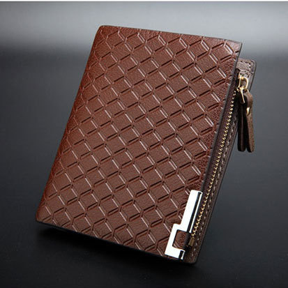 Free shipping fashion solid color men genuine leather vertical wallet male wallet with zipper_High quality man wallet<br><br>Aliexpress