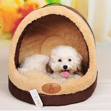 Soft samll fleece warm pet bed dog cat tent house Kennels for small dog Soft luxury Chihuahua dog Princess Bed  indoor House bed