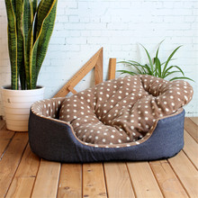 Hot Classic Warm Pet Dog Bed Basket Fleece Comfortable Puppy Cat Dog Blanket Beds For Large Dogs Huskey Pitbull Kennel Beds(China)