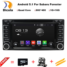 ROM 16GB Quad Core Android 5.1.1 Stereo Radio Android 5.1 Car DVD GPS For Subaru Forester Impreza 2008-2011 Free Map and camera