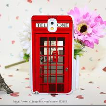 Vintage London Telephone Box Hard White Cover for Samsung Galaxy A3 A5 A7 A8 Note 2 3 4 5 Case