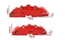 2 Pair Universal Car 3D Breb Style Disc Brake Caliper Covers Front+Rear