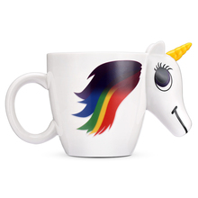 300ML 3D Color Changing Ceramic Mug Temperature Unicorn Coffee Tea Milk Hot Water Cup Drinkware Colour Novetly Christmas Gift(China)