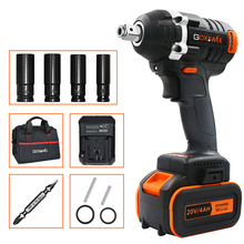 Driver-Socket Wrench Power-Tools Hand-Drill GOXAWEE 4000mah-Battery Impact Brushless Cordless