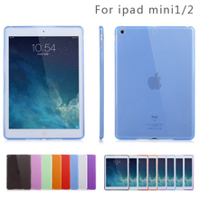 "Matte Soft Transparent TPU Gel Rubber Back Skin Cover for Apple New iPad Mini 1 Mini 2 Mini 3 Retina 7.9"" Protective Pouch Case"
