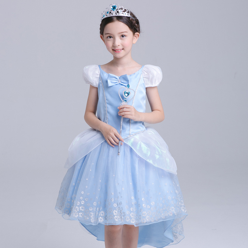 2017 New Cinderella Dress Girls Kids Children Halloween Cosplay Cinderella Costume Dresses Cartoon Girls Christmas Clothing<br>
