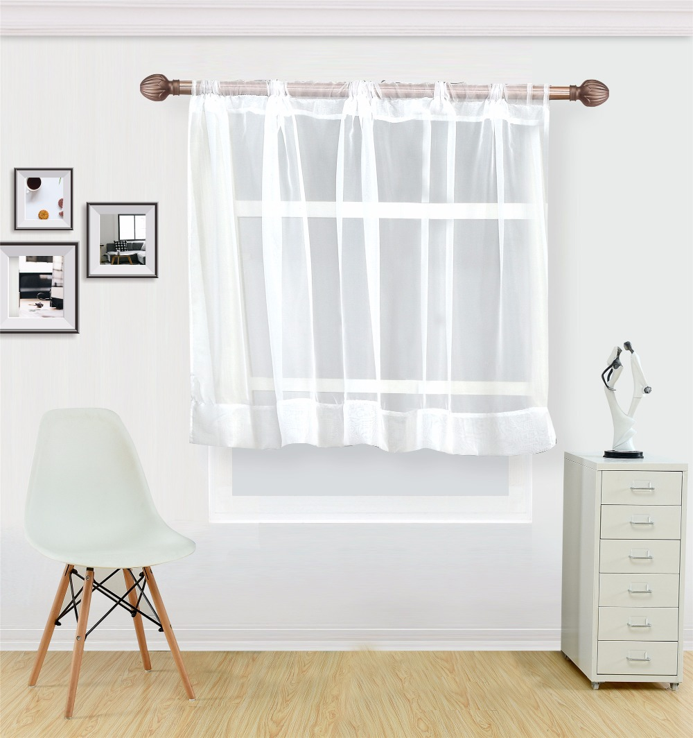 White coffee curtain for kitchen half window tulle curtains rustic kitchen  Living room curtains Europe style short panel cortina
