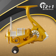 Golden Fishing Reels spinning reel daiwa technology Left/Right Hand 1pcs XL-AF blue 5.2:1 12+1BB Fishing Reel free shipping(China)