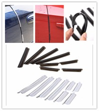 Triclicks 8x Car Door Protection Edge Guards Trim Molding Protector Strip Scratch Car Crash Barriers Door Guard Collision Strips